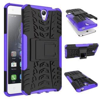 Harga Moonmini Kickstand Hybrid Shockproof Case for Lenovo Vibe S1 (Purple)