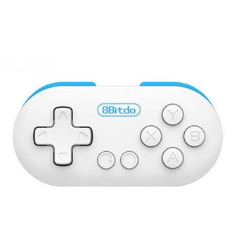 Harga 8Bitdo Zero MINI Bluetooth Game Controller Gamepad Remote Shutter (Blue)