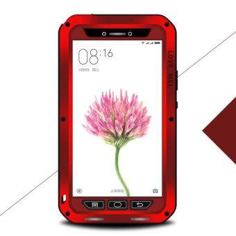 Harga LOVE MEI Shockproof Dropproof Dustproof Cover for Xiaomi Mi Max - Red