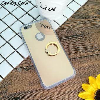Harga Ring Buckle Mirror Soft TPU Case for Apple iphone 7 Plus (Gold)