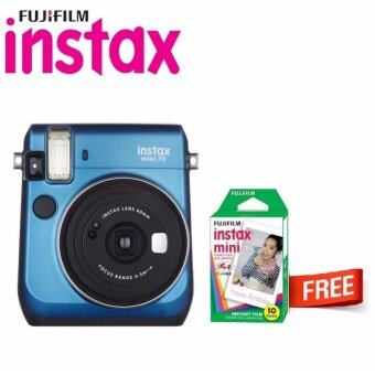 Harga Fujifilm Instax Bundle Mini 70 Instant Film Camera (Island Blue) + Instax Mini Plain Film (10pcs)