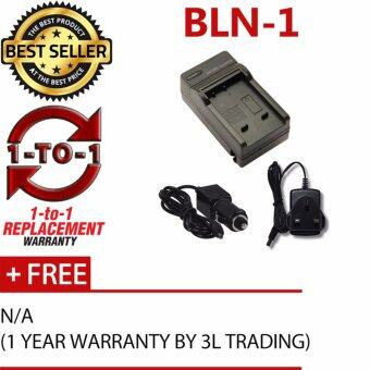 Harga BLN-1 Battery Charger for Olympus EM1 EM5MKII EM5 PEN-F EP5 (2-In-1 Home / Car Charger)