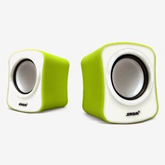Harga SADA V-182 Multimedia USB Speaker (Green)