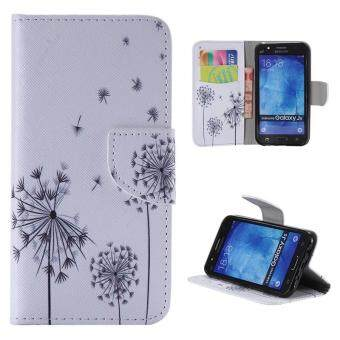 Harga Moonmini Case for Samsung Galaxy J5(2015) Leather Case Flip Stand Cover - Dandelion