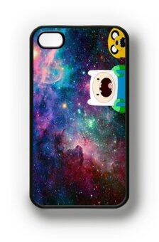 Harga Leegoal Color Vintage Jake Finn Nebula Adventure Time Pattern Hard Case Cover for IPhone4 4G 4S