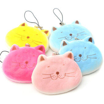 Harga 8CM Kawaii Cartoon Fat Cat Adorable Squishy Bread Keychain Bag Phone Charm Strap