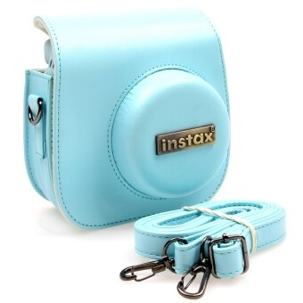 Harga KEEP/Fujifilm Instax Mini 8 Lens Pop Leather Case -Metal Tag- (Blue) sku: 896