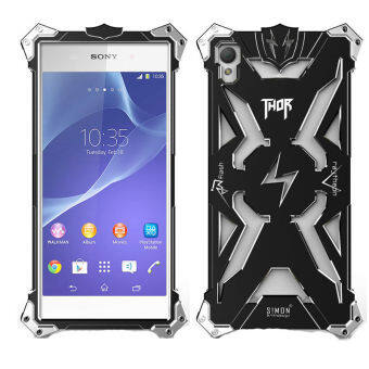 Harga Metal Aluminum Armor Case for Sony Z1(Black)