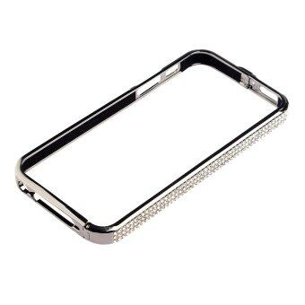 Harga Stylish Metal Auger Frame Bumper Case for iPhone 5 (Silver)
