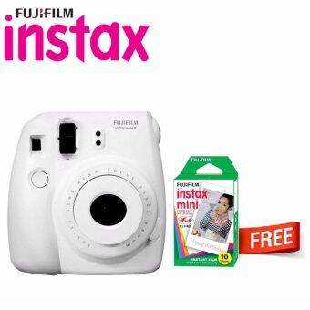 Harga Fujifilm Instax Bundle Camera Mini 8 White+ Fujifilm Instax Mini Plain Film (10pcs)