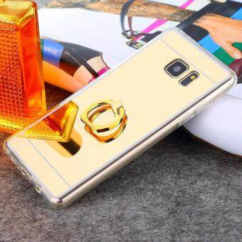 Harga Ring Buckle Mirror Soft TPU Case for Samsung Galaxy A7 2017 (Gold)