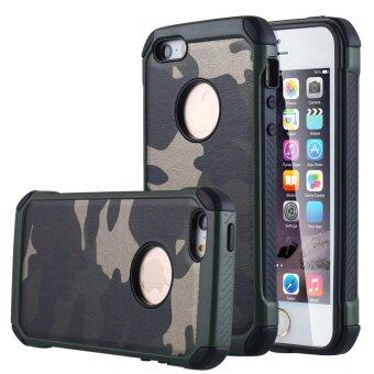 Harga Plastic Armor Case for Apple iPhone SE / 5S (Camouflage Green)