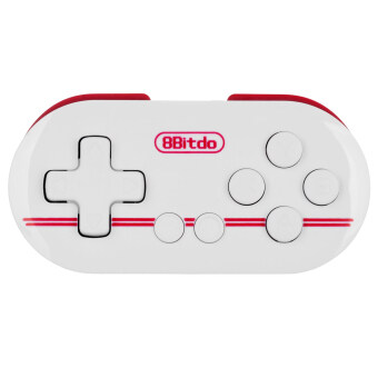 Harga 8Bitdo Zero Bluetooth V3.0 Wireless Gamepad - White + Dark Red