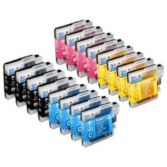 Harga Skia Ink Cartridges ¨ 16 Pack Compatible with Brother LC61(LC61BK LC61C LC61M LC61Y) for DCP-J140W, MFC-J220, MFC-490CW, MFC-295CN, DCP-165C, MFC-J630W, MFC-J615W, MFC-290C, MFC-495CW, MFC-J265W