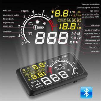 Harga Car Head Up Display with Bluetooth Speedometer OverSpeed Alarm Car Interface HUD Fuel Icon Head-Up LCD Display Only Compatible with Android System X3