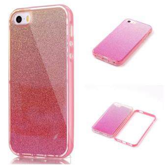 Harga Case for iPhone SE 5SE 5 5S Mirror Back Cover + PC Frame Case - Pink