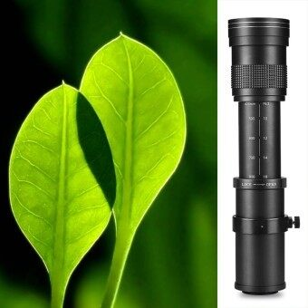 Harga Lightdow 420-800mm F/8.3-16 Telephoto Manual Zoom Lens For Canon/Nikon (Black)