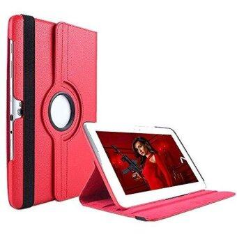 Harga Samsung GT-N8013 Case, 360 Degrees Rotating Stand PU Leather Case for Samsung Galaxy GT-N8000 / GT-N8005 / GT-N8010 / GT-N8013 / GT-N8020 / SCH-I925 (Red)