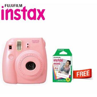Harga Fujifilm Instax Camera Mini 8 Pink + 1 Box Fujifilm Instax Mini Film (10pcs)