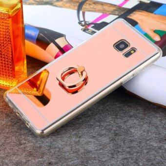 Harga Ring Buckle Mirror Soft TPU Case for Samsung Galaxy A7 2017 (Rose Gold)