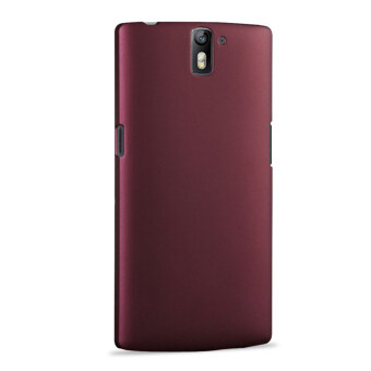 Harga For OnePlus One Hard PC Ultra Thin Snap-on Back Case Cover Shell Protector - Dark Red