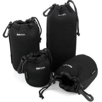 Harga Matin Neoprene Soft Waterproof Camera Lens Pouch Bag Case for Camera (S,M,L,XL Size)