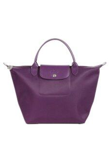 Harga Longchamp Planetes Medium With Short Handle - (Bilberry)