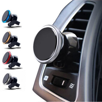 Harga Creative Magnetic Air Vent LED Car Mount Phone Holder Cradle Bracket for iPhone 6s Plus 6s 5s Samsung