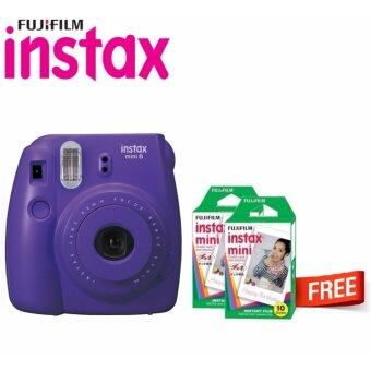 Harga Fujifilm Instax Bundle Camera Mini 8 Grape + Fujifilm Instax Mini Plain Film (20pcs)