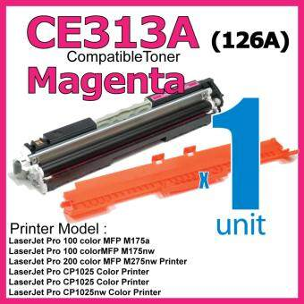 Harga Compatible Colour Laser Toner HP CE313A / 126A Magenta High Quality Compatible Toner Cartridge For LaserJet Pro CP1025 / CP1025nw / PRO 100 MFP M175a / MFP M175nw / MFP M275 / MFP M275nw Printer Toner