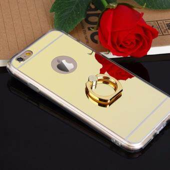 Harga Ring Buckle Mirror Soft TPU Case for Apple iphone 6 Plus/6S Plus (Gold)