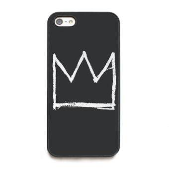 Harga phone case TPU cover JEAN-MICHEL BASQUIAT CROWN for Apple iPhone 5 / 5s