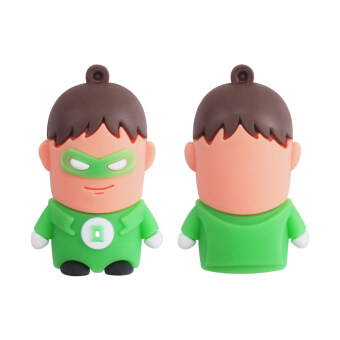 Harga High Speed Toys Cartoon USB Flash Drives USB 2.0 Pendrives 8GB Memory Stick Card Creative Gift (the hero green man) - intl