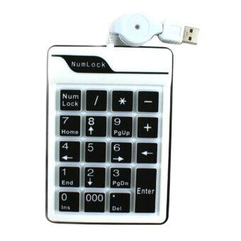 Harga USB 19 Keys Number Keypad Keyboard PC Laptop Notebook Numeric Num Pad (Black)