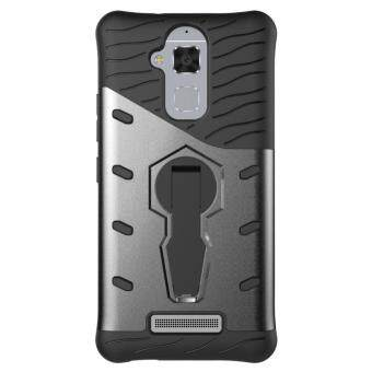 Harga Heavy Duty Shockproof Dual Layer Hybrid Armor Defender Full Body Protective Cover with 360 Degree Rotating Kickstand Case for ASUS ZenFone 3 Max ZC520TL