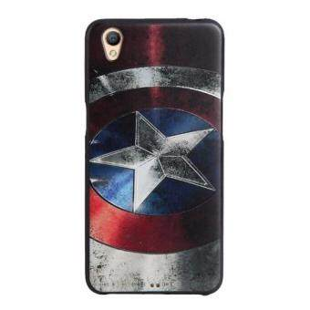 Harga For OPPO A37 TPU 3D Painting Cover Case(Captain America)