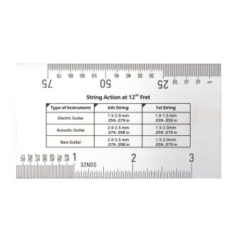 Harga OH Durable String Action Ruler Gauge Tool in/mm for Guitar Bass Mandolin Banjo
