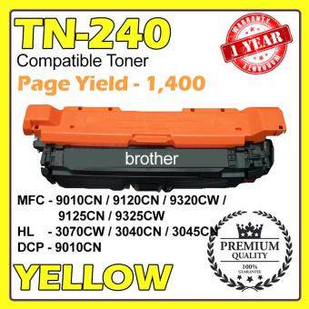 Harga (COMPATIBLE) TN-240 for Brother Laser YELLOW Toner Cartridge MFC-9010CN / MFC-9120CN / MFC-9320CW / MFC-9125CN / MFC-9325CW / HL-3070CW / HL-3040CN / HL-3045CN / HL-3075CW / DCP-9010CN