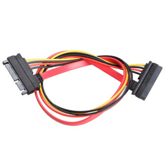Harga 22 Pin Male to Female 7+15 pin SATA Data Power Combo Extension Cable 45CM