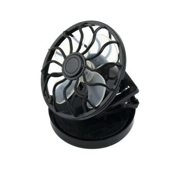 Harga OH New Energy Saving Clip-On Solar Cell Fan Sun Power Energy Panel Cooling (Black)