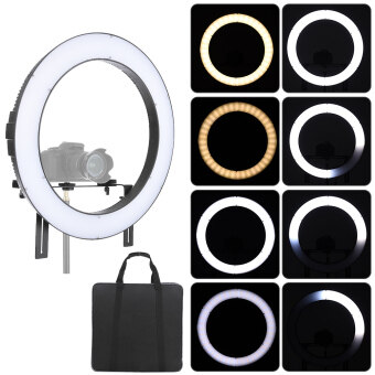 Harga FalconEyes DVR-160TVC Video Camera Photography Studio LED Ring Light Fill-in Lamp 160pcs SMD Beads 3200K-5600K Adjustable Color Temperature Outdoorfree