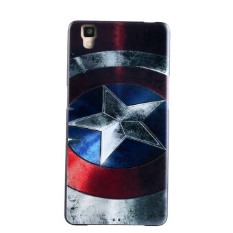 Harga 3D Soft TPU Case for OPPO R7S-Captain America