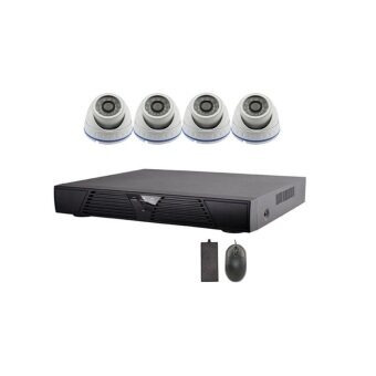 Harga 4CH AHD CCTV 720P 1.0MP 4 Channel AHD System Complete Package Kit