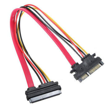 Harga OEM 22 Pin Male to Female 7+15 pin SATA Data Power Combo Extension Cable 45CM
