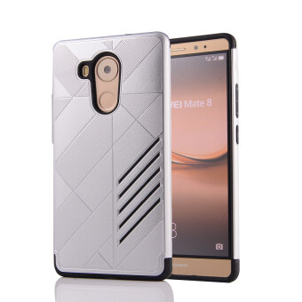 Harga Moonmini PC + TPU Case for Huawei Ascend Mate 8 (Silver)
