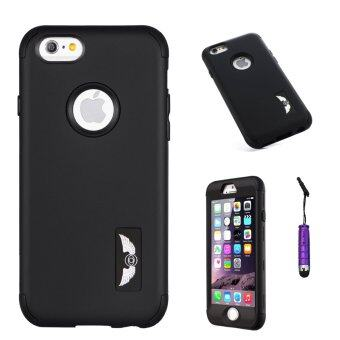 Harga Moonmini Hybrid Combo Full Body Armor Case for Apple iPhone 6 / Apple iPhone 6S (Black)