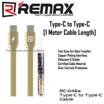 Harga Remax Type-C RC-046a Type-C to Type-C Data Cable (Gold)
