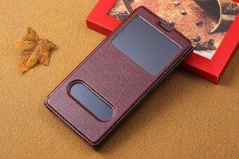 Harga Moonmini PU Leather Cover for Huawei Honor 3C (Brown)