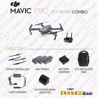 Harga (Ready Stock) DJI Mavic Pro Fly More Combo (Official DJI Malaysia Warranty)