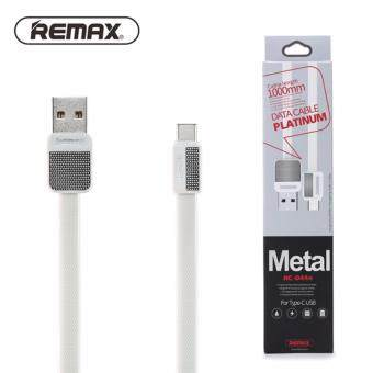 Harga Remax Metal Series RC044a 2.1A Fast Charge Type-C Cable - 100% Original REMAX Cable - White